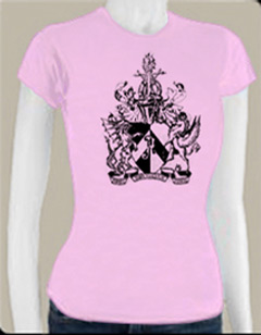 atheist coat of arms women's tshirt